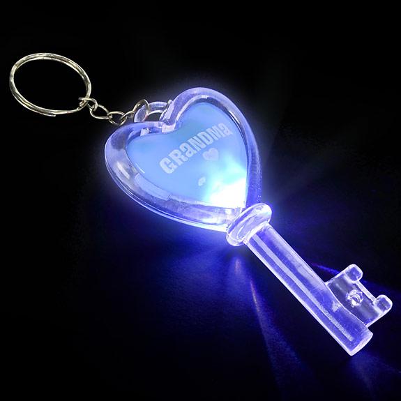 Grandma Flashing Key Chain - Grandma Gifts - Santa Shop Gifts
