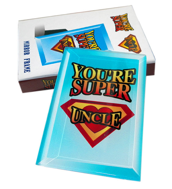 Youre Super Uncle Mirror Frame - Uncle Gifts - Santa Shop Gifts