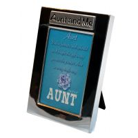 Aunt and Me Silver Photo Frame - Aunt Gifts - Santa Shop Gifts
