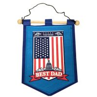 Dad Banner on Wooden Rod - Dad Gifts - Santa Shop Gifts
