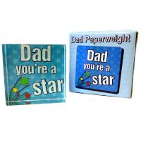 Dad Star Paperweight - Dad Gifts - Santa Shop Gifts