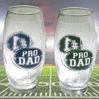 Pro Dad Football Shaped Glass Mug - Dad Gifts - Santa Shop Gifts