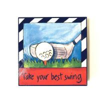Inspirational Golf Plaque - Gifts For Men - Santa Shop Gifts