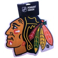 Blackhawks Die Cut Logo Pennant - Sports Team Logo Gifts - Santa Shop Gifts