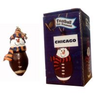Chicago Football Fan Ornament - Sports Team Logo Gifts - Santa Shop Gifts