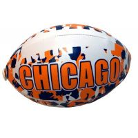 Chicago Camouflage Football - 6 Inch - Sports Team Logo Gifts - Santa Shop Gifts