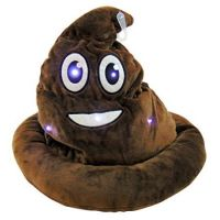 Light Up Emoticon Poo Hat - Gifts For Boys & Girls - Santa Shop Gifts