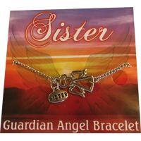 Sister Silver Angel Bracelet - Sister Gifts - Santa Shop Gifts