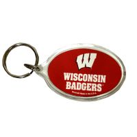 Wisconsin Badgers Key Chain - Acrylic - Sports Team Logo Gifts - Santa Shop Gifts