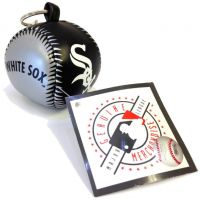 Vinyl Key Chain - White Sox - Sports Team Logo Gifts - Santa Shop Gifts