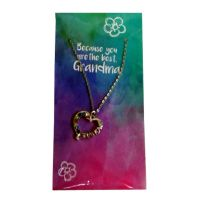 Grandma Heart Necklace on Card