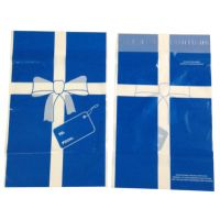 Medium Plastic Holiday Gift Bags - 50 Pack