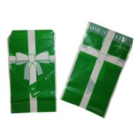 Small Plastic Holiday Gift Bags - 50 Pack