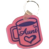 Aunt Coffee Cup Key Chain - Aunt Gifts - Santa Shop Gifts