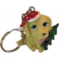 Festive Dog Key Chain - Christmas - Holiday Gifts - Santa Shop Gifts