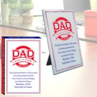 Dad Hall of Fame Glass Plaque - Dad Gifts - Santa Shop Gifts