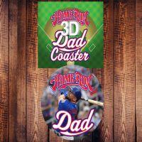 Home Run Dad 3D Coaster - Dad Gifts - Santa Shop Gifts