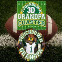 Touch Down Grandpa 3D Coaster - Grandpa Gifts - Santa Shop Gifts
