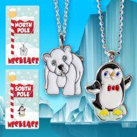 Holiday Necklace (Penguin Polar Bear) - Christmas - Holiday Gifts - Santa Shop Gifts