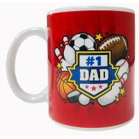 Dad Mug with Sports Theme - Dad Gifts - Santa Shop Gifts